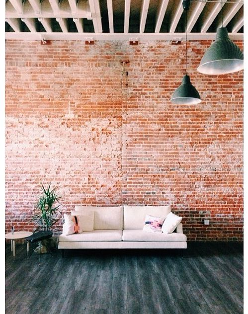 ideas for living room wall colours best chair brick feature in the | ...