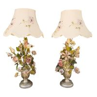 106 best images about Italian floral tole lamps and ...