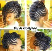 side mohawk dy' coiffure