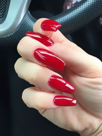 Best 25+ Long red nails ideas on Pinterest | Red nails ...