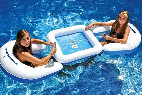 floating pool chairs with cup holders for elderly riser recliner gamestation card table swimming game & 90675 | lakes, you and i kevin o ...