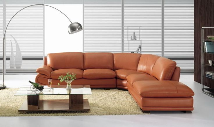 orange couch living room ideas red sofa images bo3920 modern camel leather sectional burnt ...