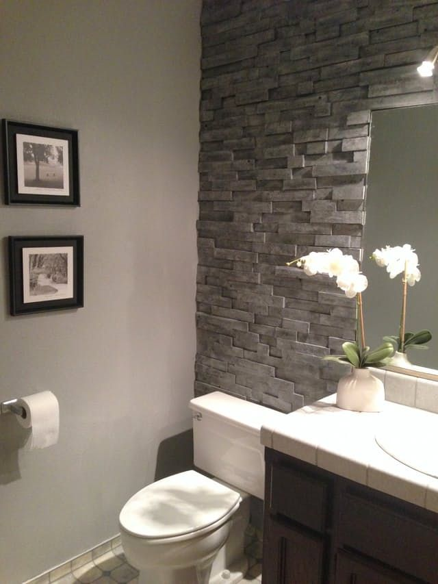 25 best ideas about Bathroom accent wall on Pinterest  Toilet room Toilet closet and Half
