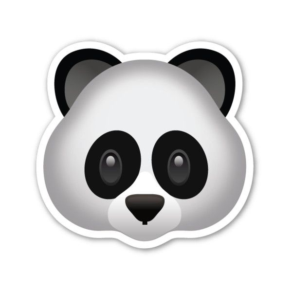 Super Cute Emoji Wallpapers Panda Face 1 Liked On Polyvore Featuring Home En Home