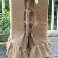 Parson Chair Slipcover Wobble Canada Burlap Cover Slipcovers Ruffle Skirts Ties Back Details | ...