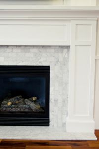 Carrara marble tile for the surround | Fireplaces ...