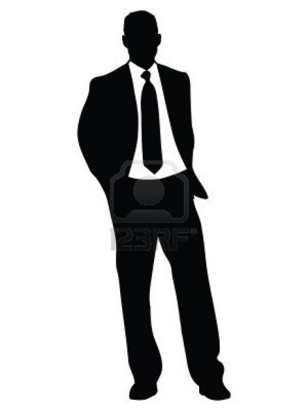 celebrating man silhouette clip