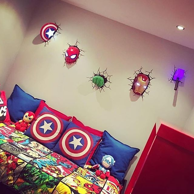 Check out this awesome Marvel themed room Thanks for the