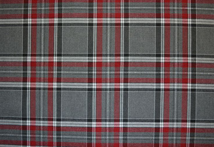 gray and red fabric  GreyRed Tartan C5739  Fabric