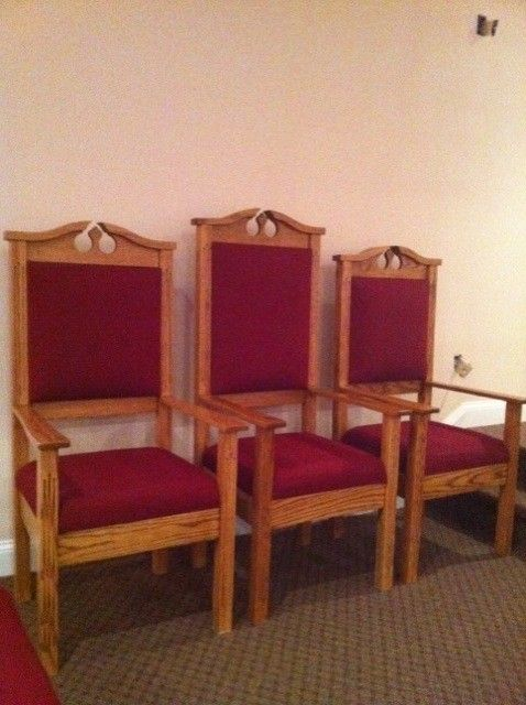 Custom Built Clergy Chairs  Born Again Pews  Christmas