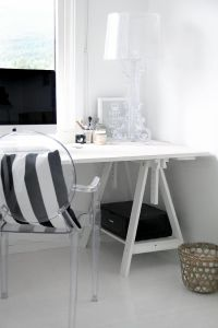Louis ghost chair, white rustic desk | BRAND | KARTELL ...