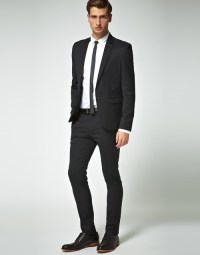 Black suit, skinny tie. | I could probably be a clothes ...