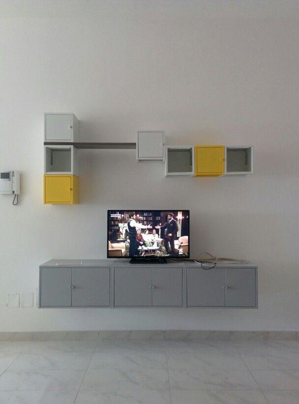 Lixhult Ikea  parete attrezzata con mobile tv  Home
