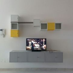 Modern Artwork For Living Room Best Furniture Deals Lixhult Ikea - Parete Attrezzata Con Mobile Tv | Home ...