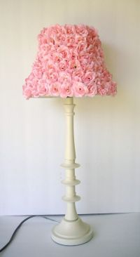 Chic Girls Pink Rosette Lamp shade | DIY Projects, Little ...
