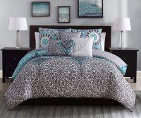 Best Aqua Gray Bedroom ideas on Pinterest | Teal bedding ...