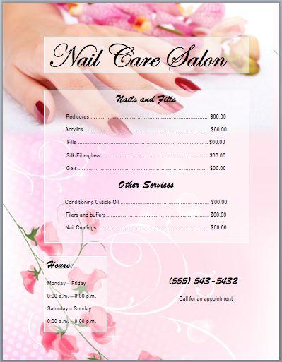 25 best Nail salon prices ideas on Pinterest Price list