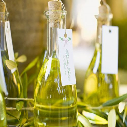 Herb Infused Olive Oil As Wedding Favor
