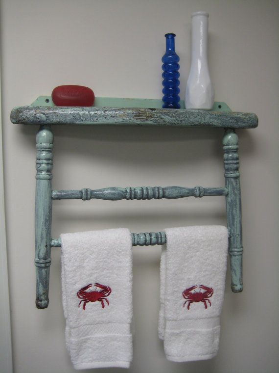 Antique Chair Back Repurposed Into Towel by RockingTheChair  Antique  Pinterest  Facebook