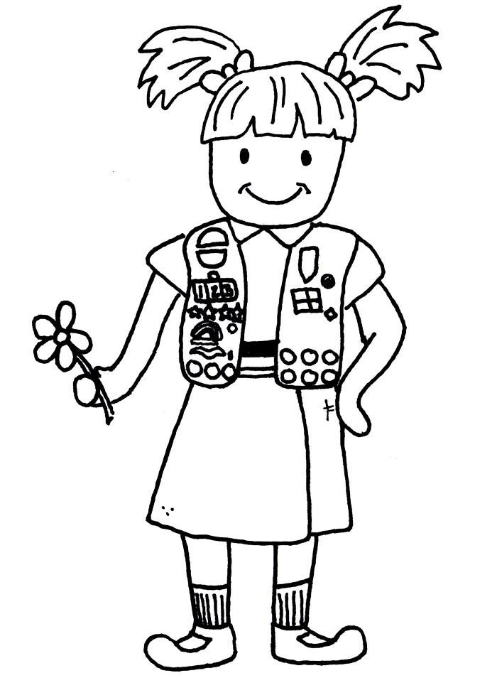 50 best images about Girl Scout Coloring Pages! on