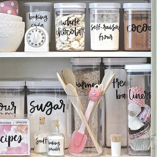 Streamline pantry organization with these stylish (and cute!) storage container labels hand-picked by