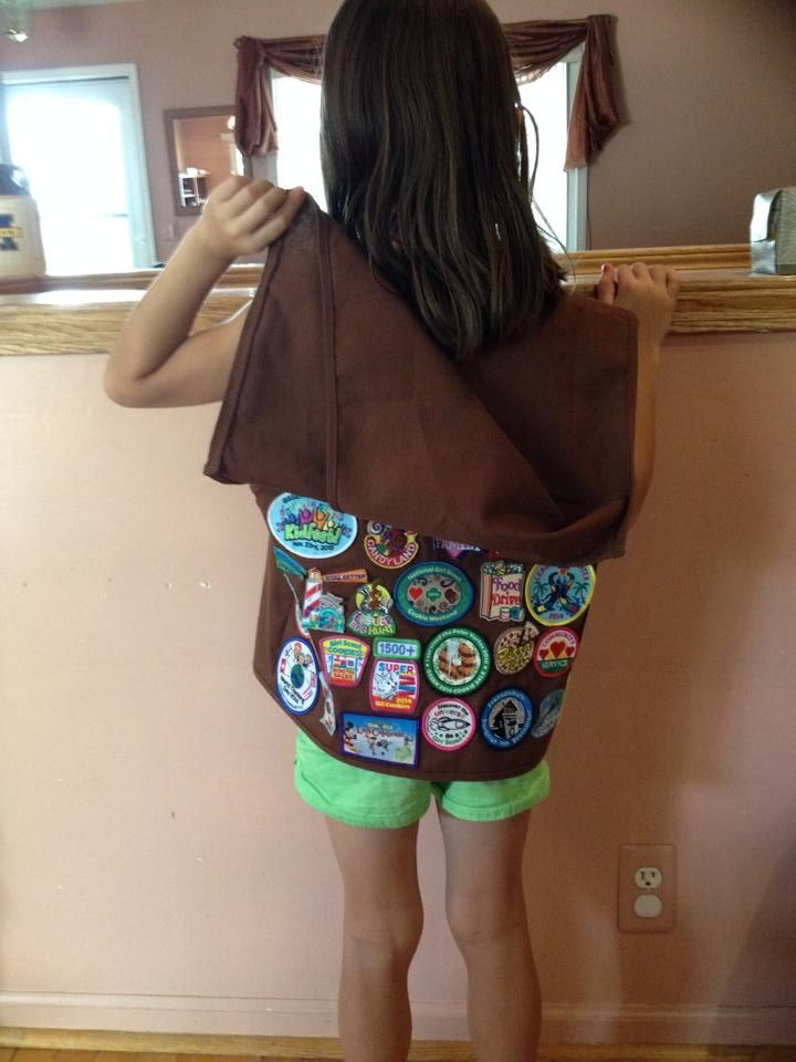 How to handle too many fun patches on a Girl Scout vest