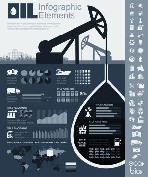 Petroleum Industry Infographics Elements by Andrew Kravchuk, via Behance | Ecology Infographics