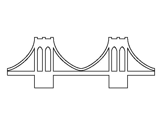 Brooklyn Bridge pattern. Use the printable outline for