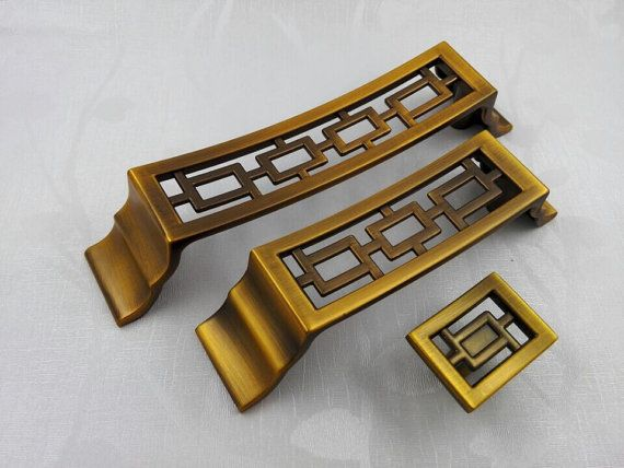 Chinese style antique symmetry pulls knobs/Drawer Handles