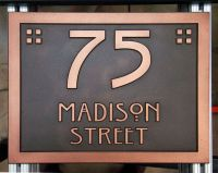 JDRS Craftsman's custom carved and hand finished address ...