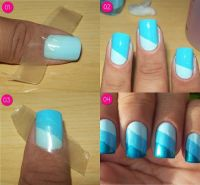Easy Nail Design ; ( Need Tape) | nails | Pinterest | Nail ...
