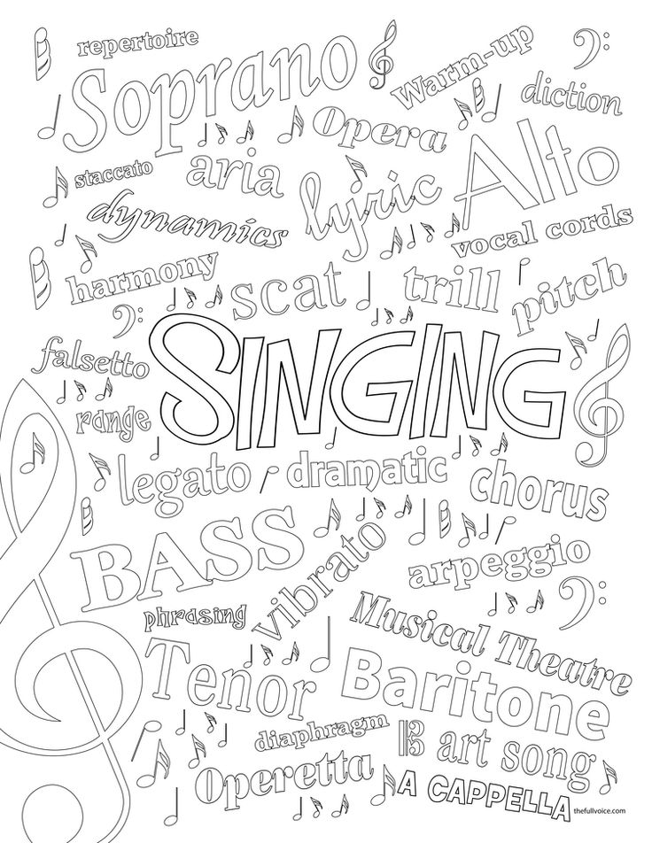 12 best images about Free Music Coloring Pages on
