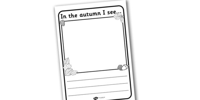 Twinkl Resources >> In the Autumn I See Writing Frame