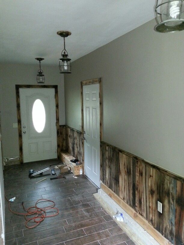 used kitchen countertops best appliances pallet wall and trim with spacers under the light ...