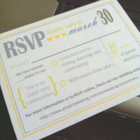 I finished designing the RSVP cards :) Too bad I can't ...