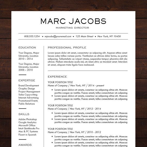 1000 ideas about Professional Resume Template on Pinterest  Resume Resume layout and Resume