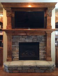Stacked Stone Fireplace Surround
