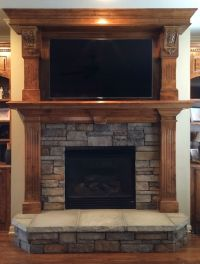 Stacked Stone Fireplace Surround - Bestsciaticatreatments.com