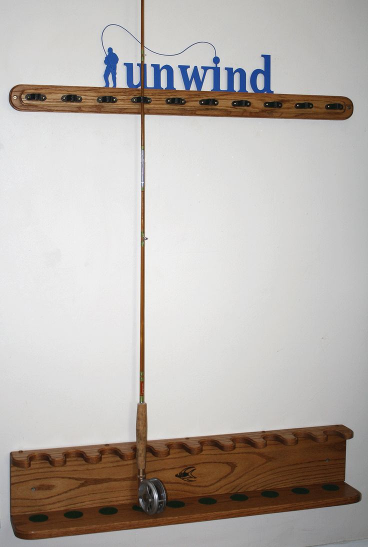 17 Best Images About Fishing Rod Racks On Pinterest Wall