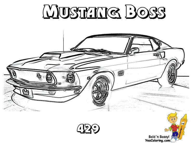 '69 Mustang Boss 429 #Muscle_Car You Can Print Out This
