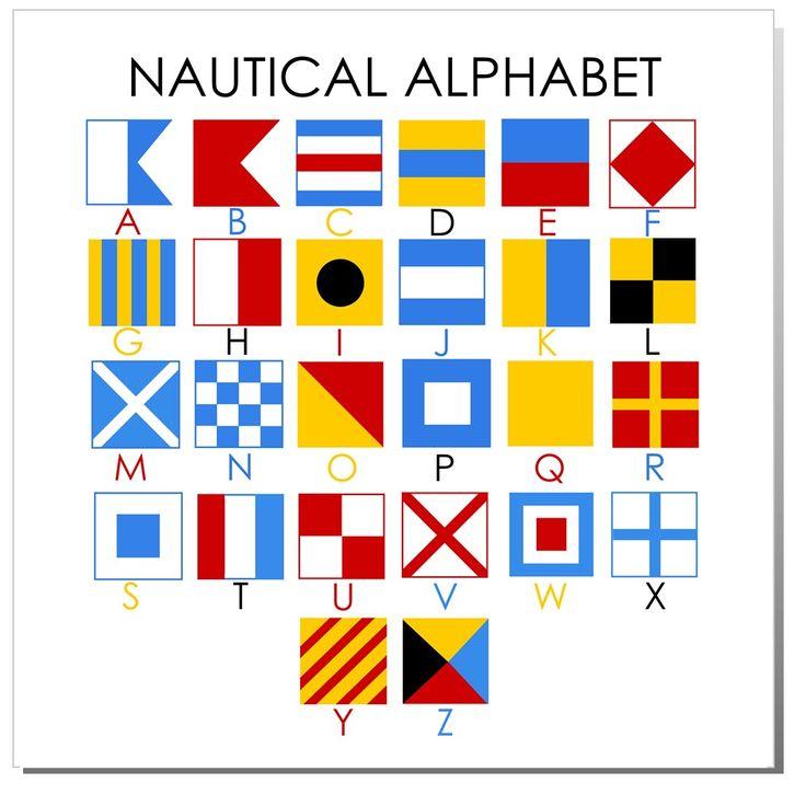 Nautical Alphabet miniflag  Good to know  Pinterest