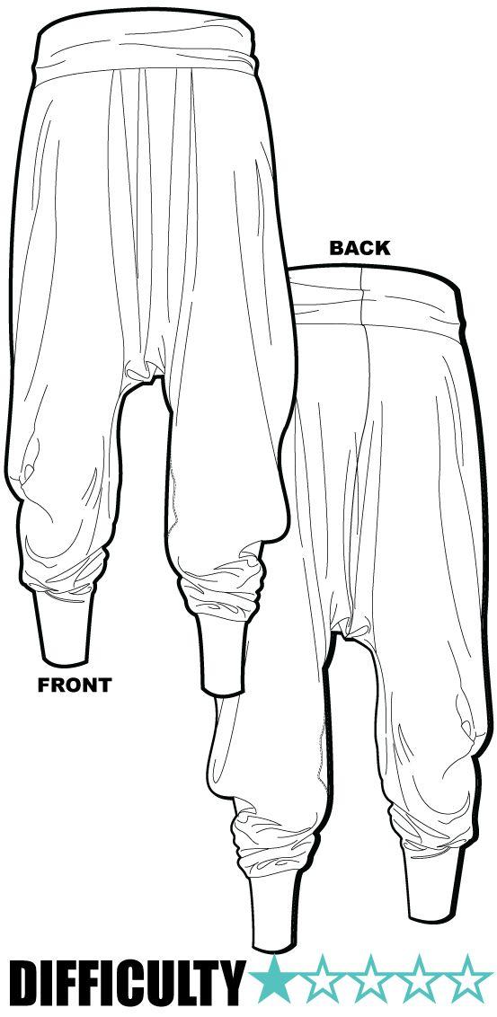 Ralf Pink Patterns /Harem pants / Khaki Merino jersey