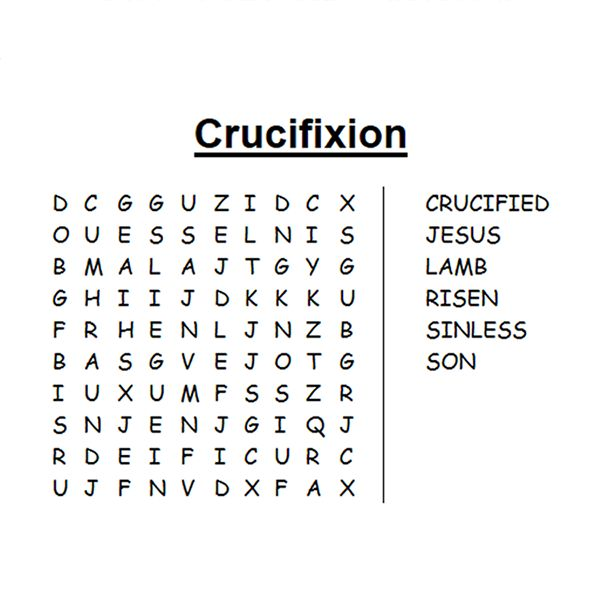 Jesus crucified #Easter word search. Enjoy even more
