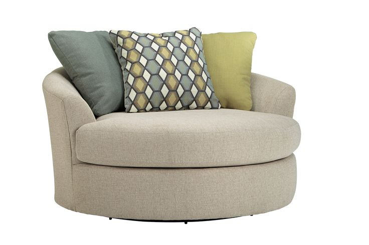 Casheral Oversized Swivel Chair  Snuggle chairs