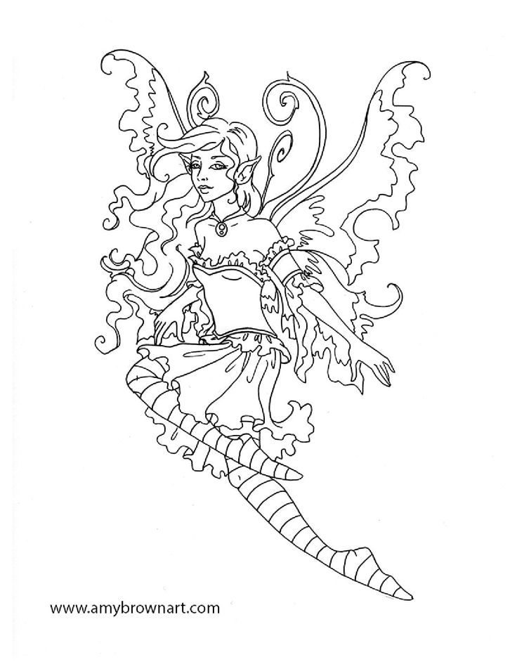 17 Best images about Fairie coloring pages on Pinterest