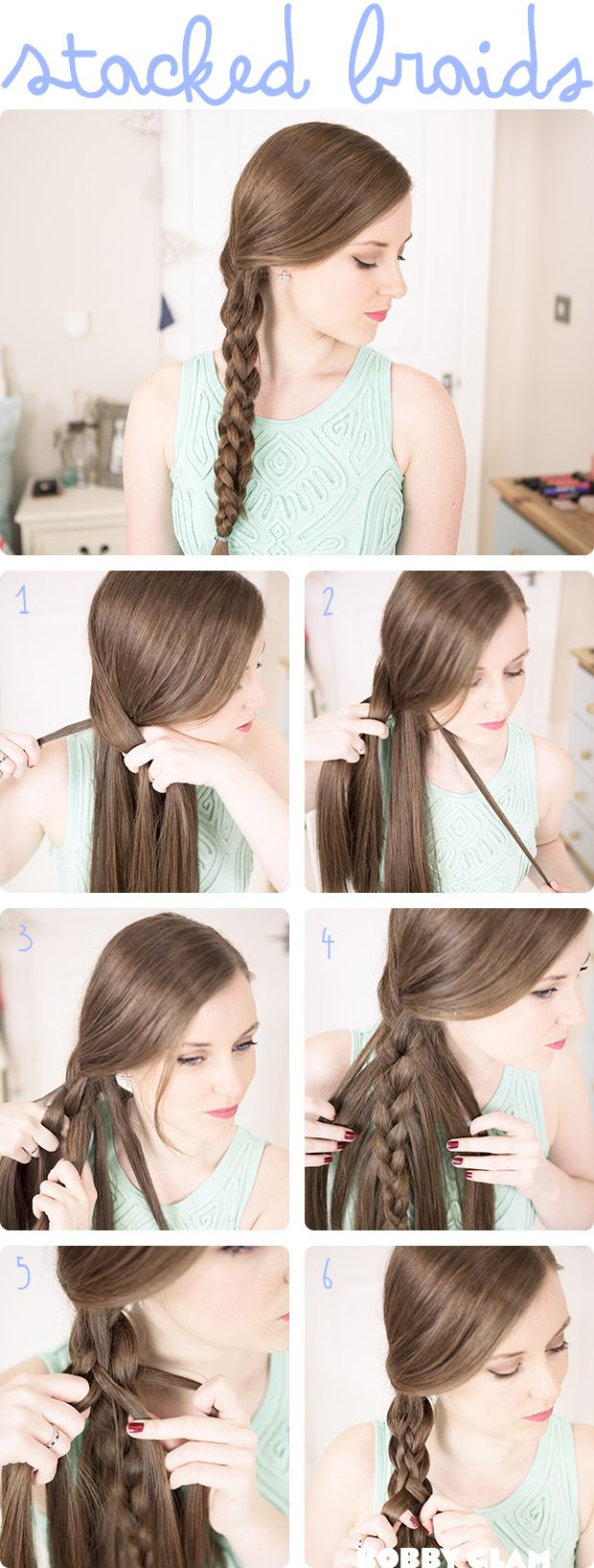 Stacked Braids: Need to try this; looks pretty cool!