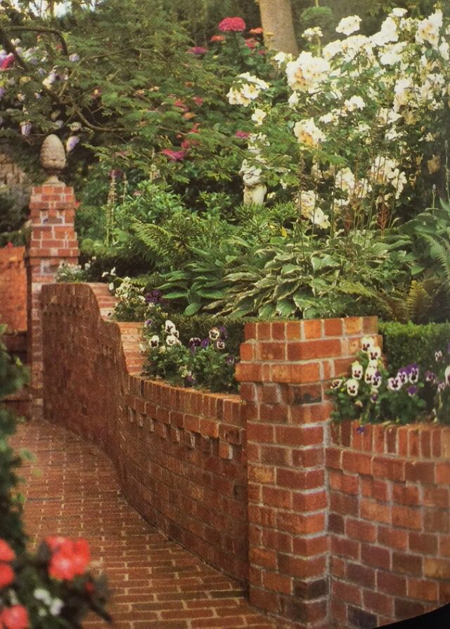25 Best Ideas About Brick Wall Gardens On Pinterest Walled