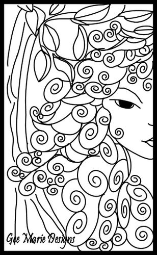1000+ images about People Faces Coloring Art Print Pages