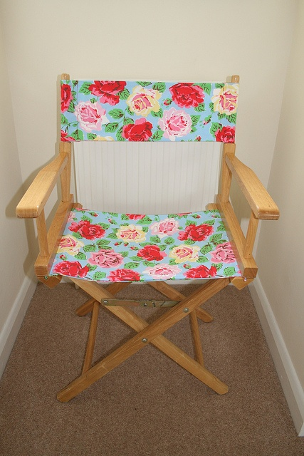 director's chair with Cath Kidston fabric...think WHITE
