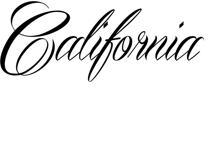 California Tattoo in Mardian Font- maybe add a palm tree